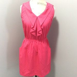 Ruffle detail dress with pockets